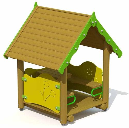 Speelhuis Kabouterhuisje - montage op de grond (type B)