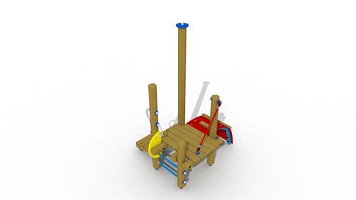 Combinatietoestel Klein Duimpje - montage in de grond (type A)