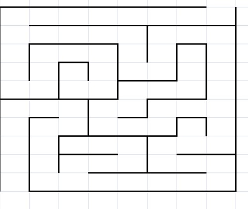 Pleinplakker Labyrinth, rechthoekig
