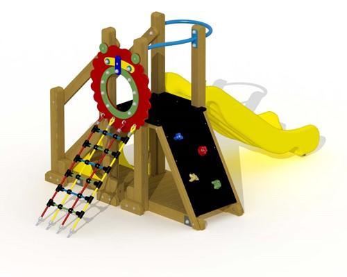 Speeltoestel Leeuwenhol - montage op de grond (type B) - kunstof glijbaan