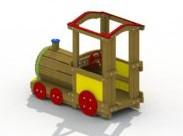 Speelelement Locomotief (open dak) - montage op de grond (type B)