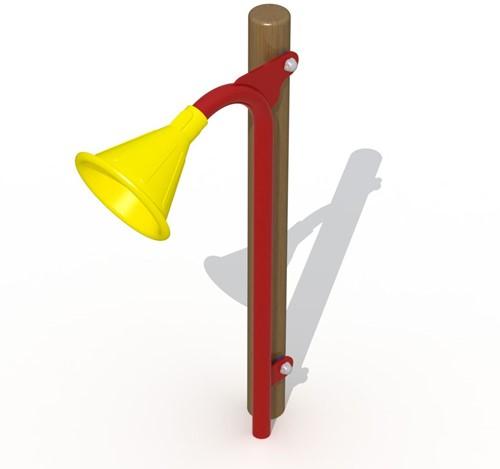 Speelelement: megafoon (2) voor houten palen