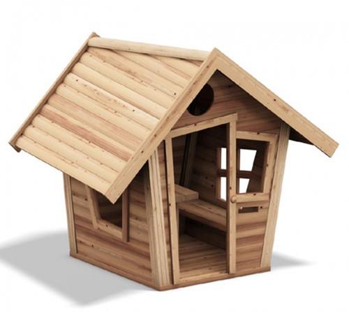 Speelhuis Dwerg, blank hout