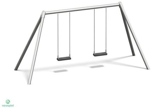 Dubbele schommel, metaal verzinkt, hoogte 220 cm