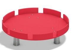 Waterspeeltoestel, module ronde watertafel met gekartelde rand