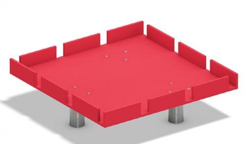 Waterspeeltoestel, module vierkante watertafel gekartelde rand