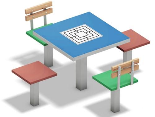 Speeltafel met vast speelveld