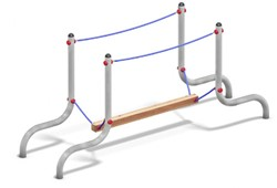 Balanceertoestel FunRun Plankenloop