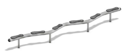 Balanceertoestel FunRun Slalombrug