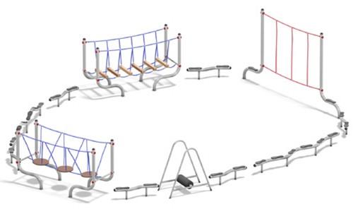 Balanceertoestel FunRun parcours (12-delig)