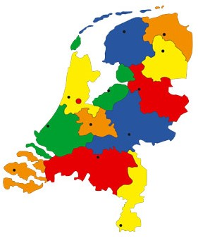 Pleinplakker Landkaart Nederland