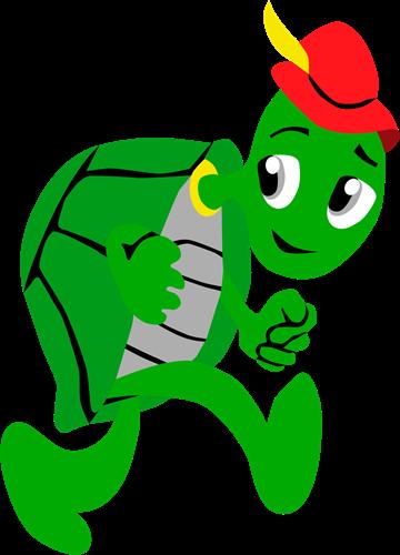 Pleinplakker schildpad staan