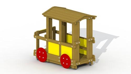 Speelelement Passagierswagon (open dak) - montage in de grond (type A)