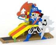 Speeltoestel Pirateneiland - montage in de grond (type A)
