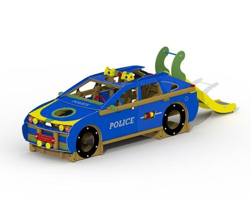 Speeltoestel Politiewagen - montage in de grond (type A)