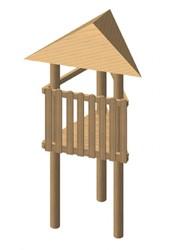 Robinia driehoekige speeltoren, platformhoogte 150, 175 of 200 cm