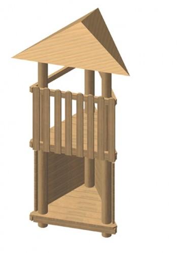 Robinia driehoekige speeltoren, platform 175 cm