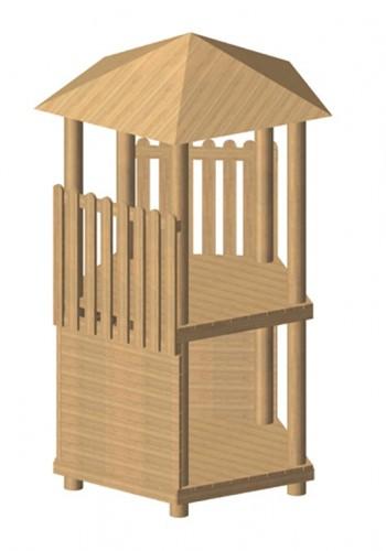 Robinia vijfhoekige speeltoren, platform 150 cm
