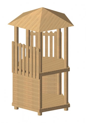 Robinia vijfhoekige speeltoren, platform 200 cm