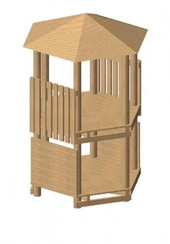 Robinia zeshoekige speeltoren, platform 150 cm