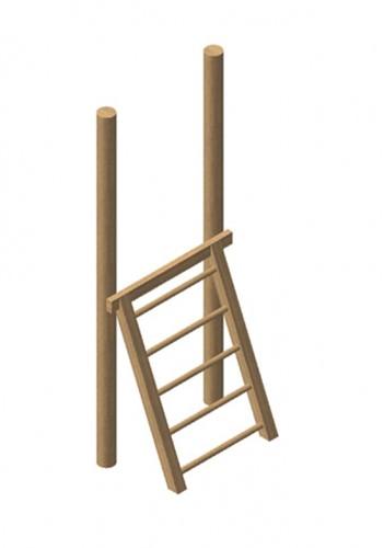 Robinia houten trap