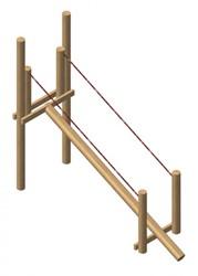 Robinia evenwichtsbalk met touwleuning