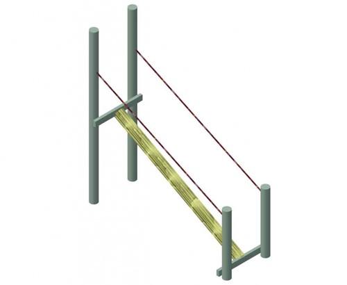 Robinia evenwichtsbalk met touw