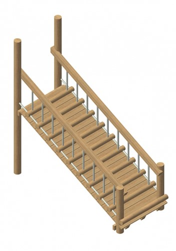 wakkelbrug, robinia frame