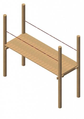 loopbrug, robinia frame