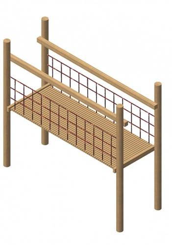 verbindingsbrug, robinia frame