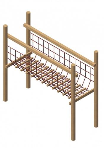 netverbindingsbrug, robinia frame