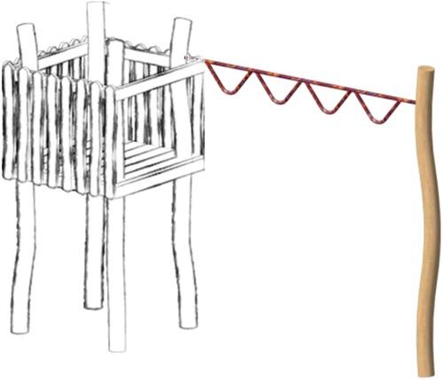 Hangslinger met touw