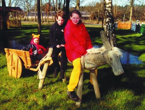 Robinia speelelement August en zijn wagen