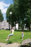 ECO-Play robinia kabelbaan (met 1 platform)-2