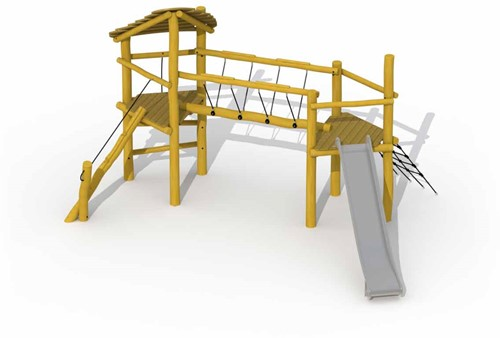 ECO-Play robinia combinatietoestel Keverbrugje (glijbaan)