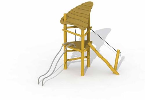 ECO-Play robinia speeltoren met dak