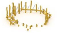 ECO-Play robinia balanceerparcours Junglepad, type B