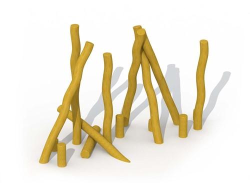 ECO-Play robinia paal, diam. 16 - 18 cm, lengte 100 cm