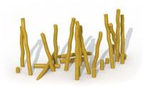 ECO-Play robinia paal, diam. 14 - 16 cm, lengte   80 cm
