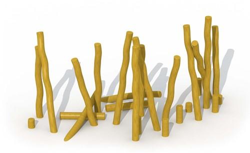 ECO-Play robinia paal, diam. 16 - 18 cm, lengte 250 cm
