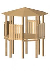 Robinia achthoekige speeltoren, platform 150 cm
