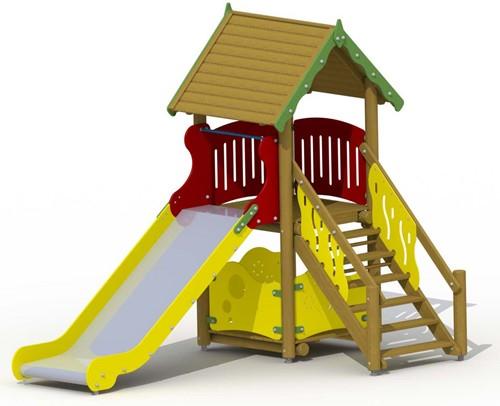 Speeltoestel Glijbaanhuisje
