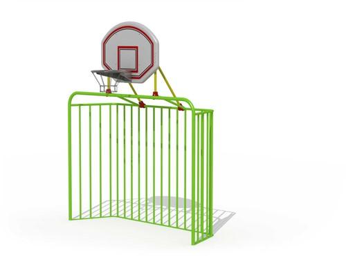 Metalen voetbaldoel (groot met basketring)