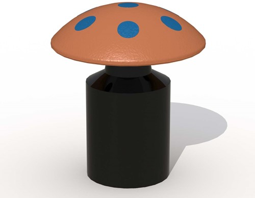 Speelelement draaiende paddenstoel