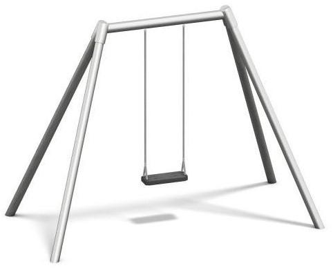 Schommel, metalen bovenligger en staanders hoogte 220 cm