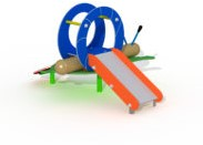 Speeltoestel Slak - montage op de grond (type B)