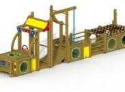 Speelelement Truck (gemonteerd) - montage op de grond (type B)