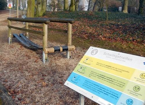 4FCircle outdoor fitnesstoestel swingband,rvs-2