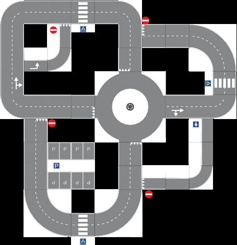 Pleinplakker Verkeersplein 1