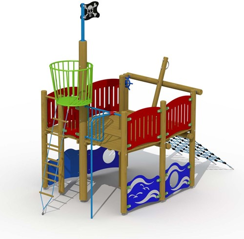 Speelelement Vikingboot (achtersteven) - montage in de grond (type A)